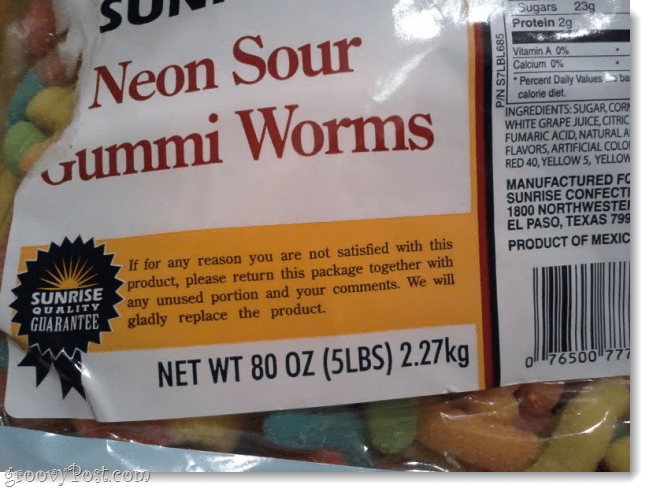 5 lb bags of gummy worms