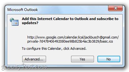 how to add outlook calendar to google calendar app