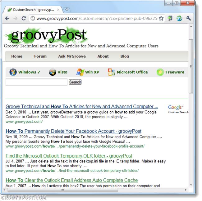 groovypost google custom search