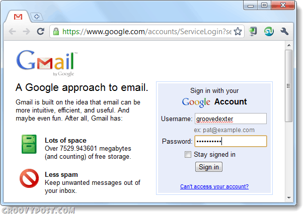 sign into gmail using chrome twice