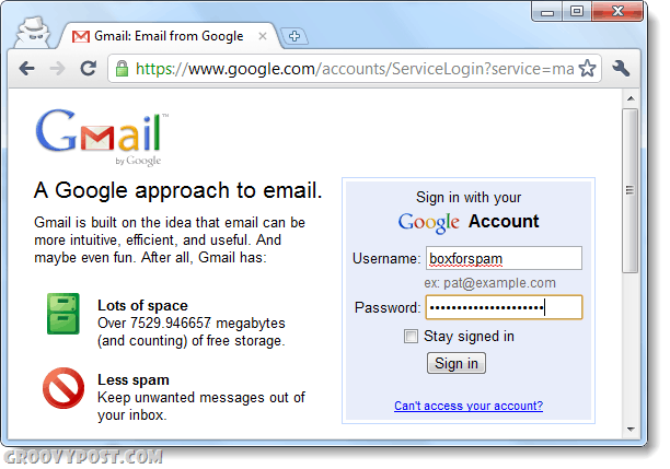 sign into gmail a second time using incognito for multiple account login