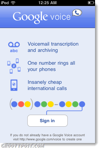 Google Voice for iPad