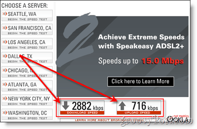 Verizon DSL Speed Tests :: groovyPost.com