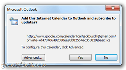 Google Calendar to Outlook 2010`Google Calendar to Outlook 2010