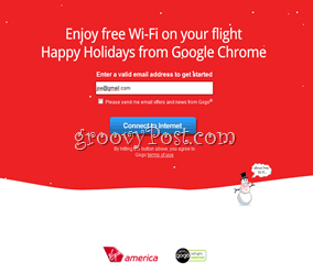 Virgin America Free WiFi Google