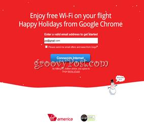 Virgin America Free WiFi Google