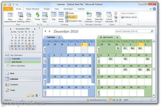 Google Calendar/Outlook 2010 Side-by-Side