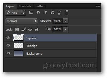 separate layers in Photoshop