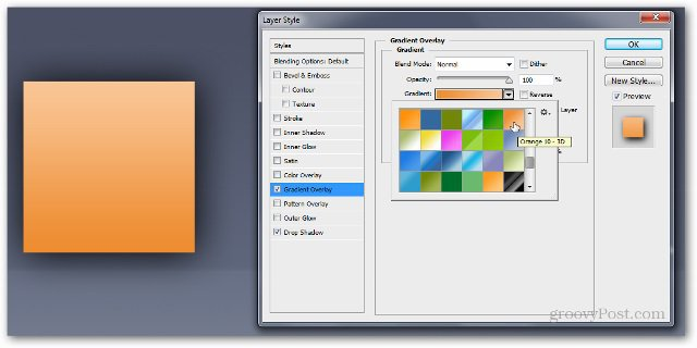 gradient overlay photoshop layer effect