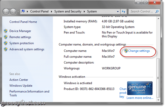 Windows 7 OS X Networking