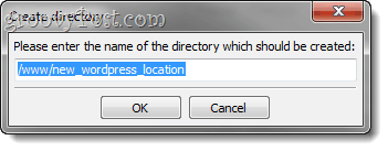Moving WordPress.org Install to another directory