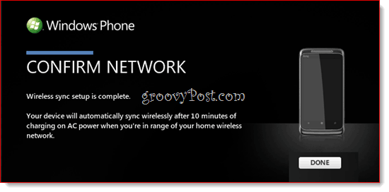 Windows Phone 7 Wireless Sync with Zune