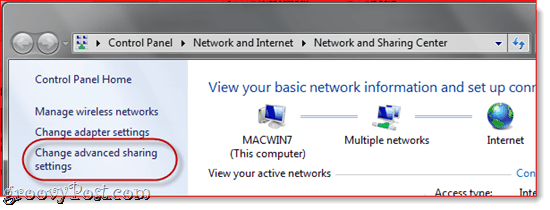 Windows 7 OS X Networking