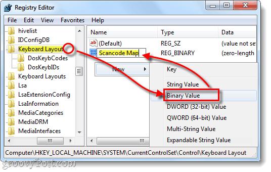 keyboard layout scancode map