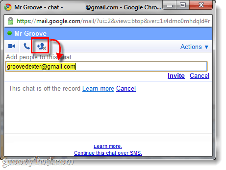 gmail chat from google, add a person
