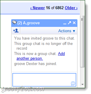 group chat in-window of gmail