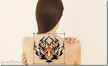 place tattoo image on body