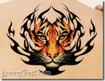 photoshop tattoo end effect