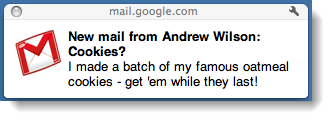 google gmail notifications outside of browser