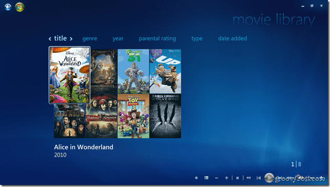 how to add movies to windows media center