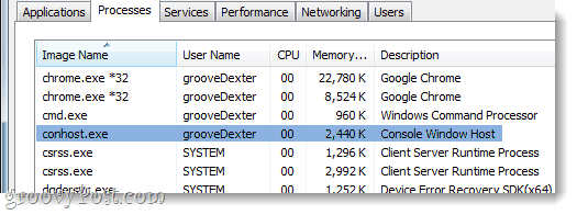 conhost.exe in the task manager