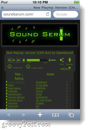 sound serum on the iphone