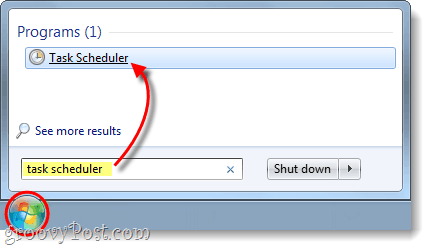 open task scheduler in windows 7