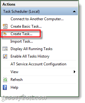 Create a Windows 7 Task