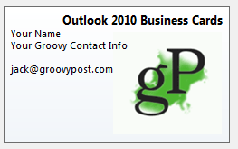 How to create a business card signature in outlook 2010 contact information colourmoves