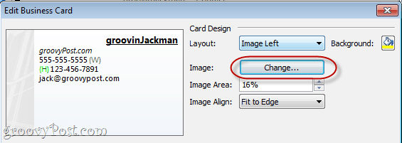 Design Business Cards in Outlook 2010