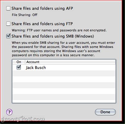 Sharing Files and Folders OS X - Windows 7