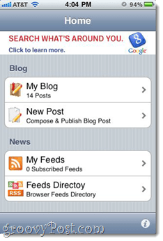 Blogger for iPhone app
