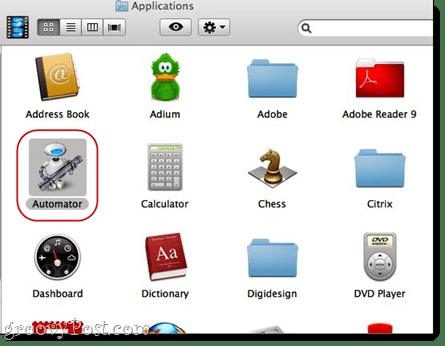 Combine PDFs using Automator using Mac OS X