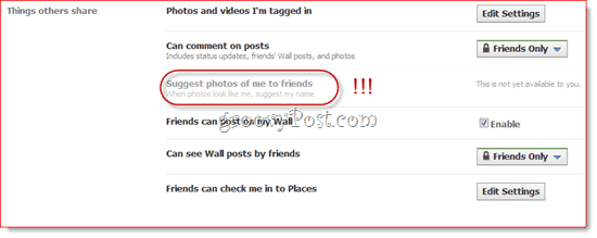 suggest photos to friends on facebook