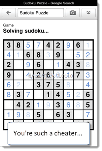 Google Goggles Solves Sudoku iphone