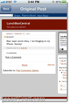 free blogger iphone app