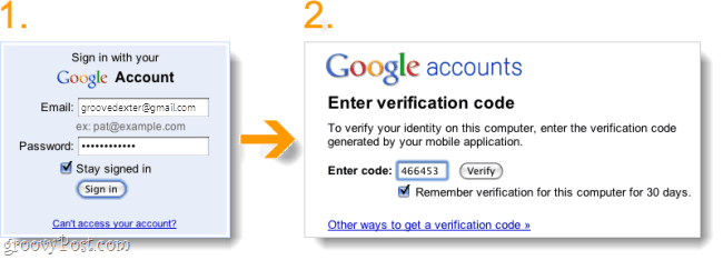 2-step verification sign in gmail