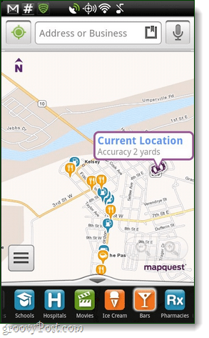 MapQuest for Android app, overview