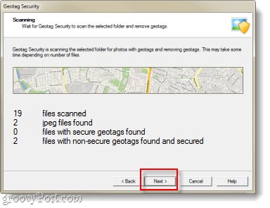 GeoTag Security data found screenshot