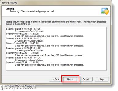 GeoTag data cleared screenshot