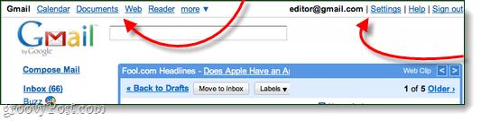 old google header screenshot