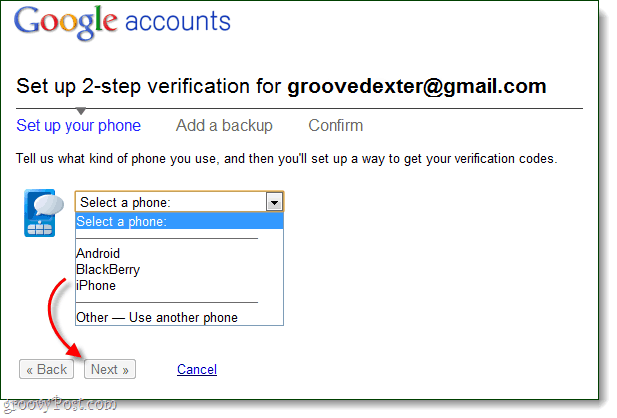 set up 2 step verification set up your phone