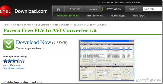 Panzera FLV to AVI Downloader