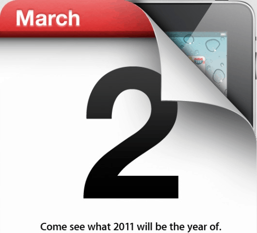 iPad 2 announcement invitation