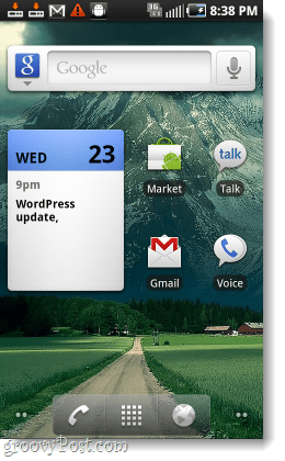 epic 4g samsung galaxy froyo home screen udpate