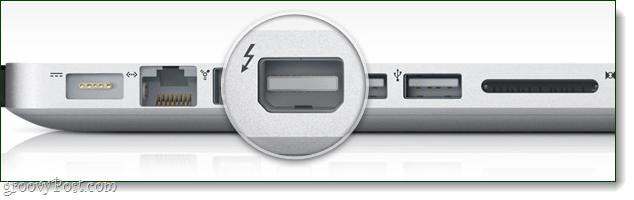 Thunderbolt port on Macbook Pro