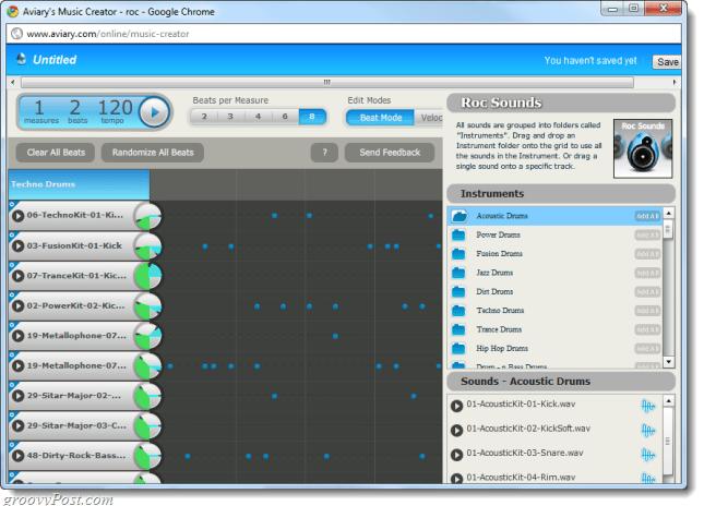 roc music maker web app
