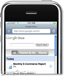 Google Docs on the iphone