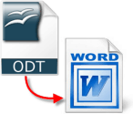 Groovy ODT File to Word conversion tutorial