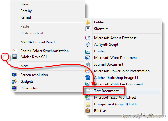 desktop create new text document file